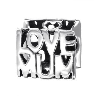 Silver Love Mum Bead