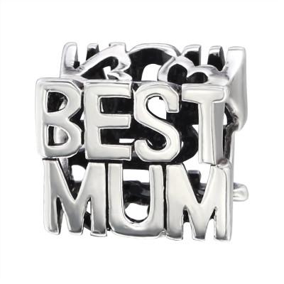Silver Best Mum Bead