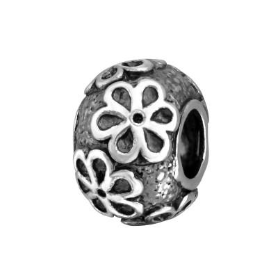 Silver Flower Bead