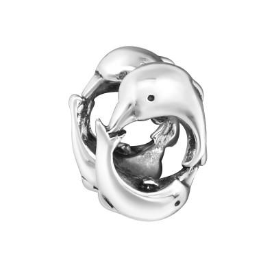 Silver Dolphin Bead