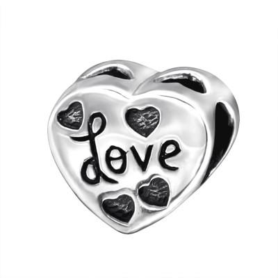Silver Heart Love Bead