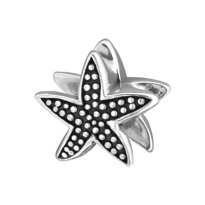 Silver Starfish Bead