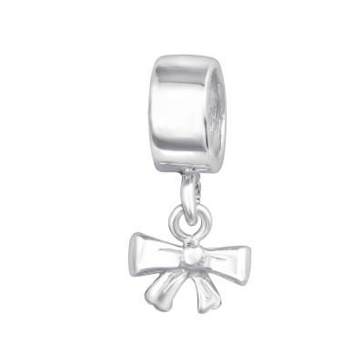 Silver Ribbon Bead