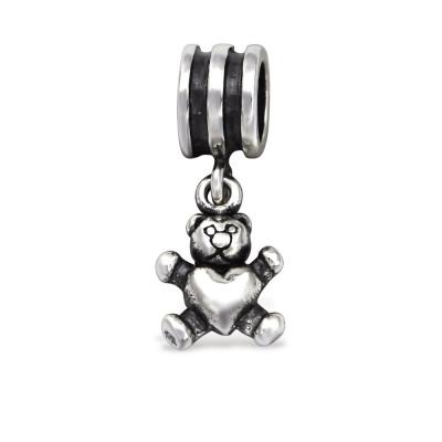 Silver Bear Bead