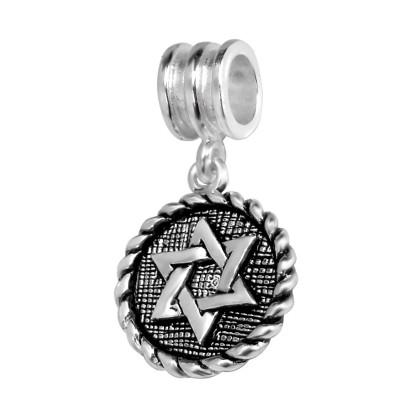 Silver Hexagram Bead
