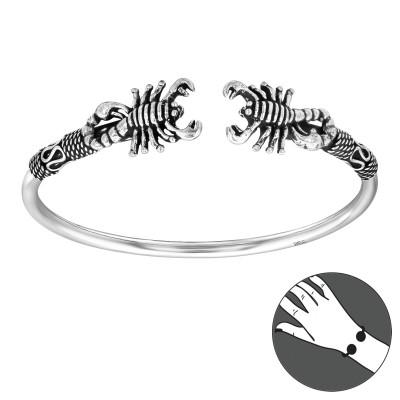 Silver Scorpion Bangle