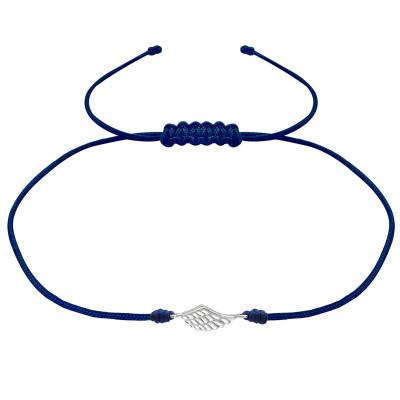 Silver Wing Adjustable Corded Bracelet