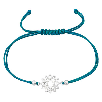 Silver Sun Adjustable Corded Bracelet