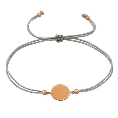 Silver Round Adjustable Corded Bracelet