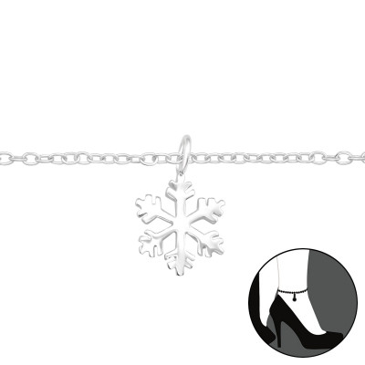 Silver Snowflake Anklet