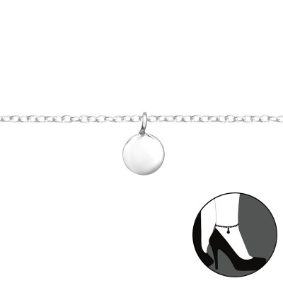 Silver Circle Anklet