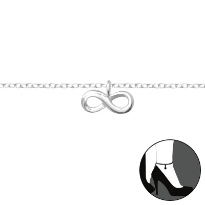 Silver Infinity Anklet