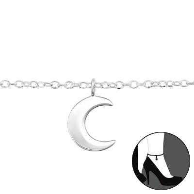Silver Moon Anklet