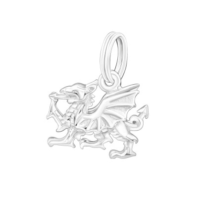 Silver Dragon Charm with Split Ring