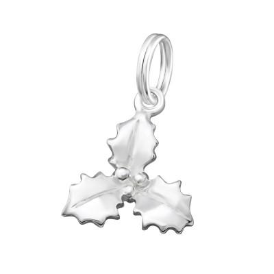 Silver Leaf Charm with Split Ring
