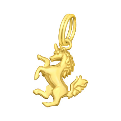 Silver Unicorn Charm with Split Ring