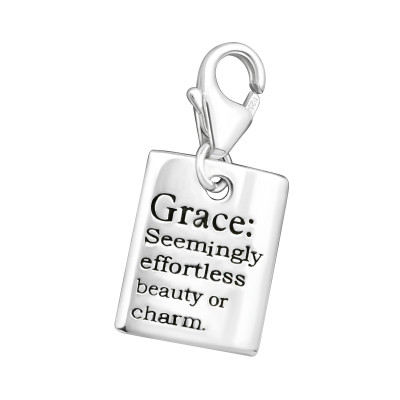 Silver Grace Clip on Charm