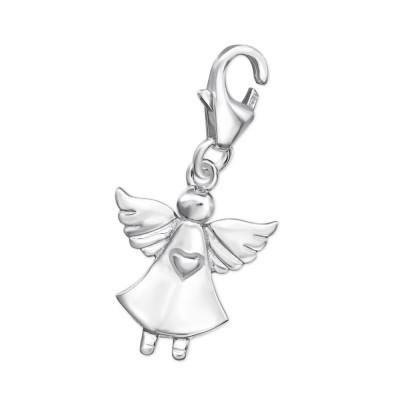 Silver Fairy Clip on Charm