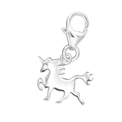 Silver Unicorn Clip on Charm