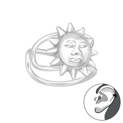 Silver Sun Ear Cuff