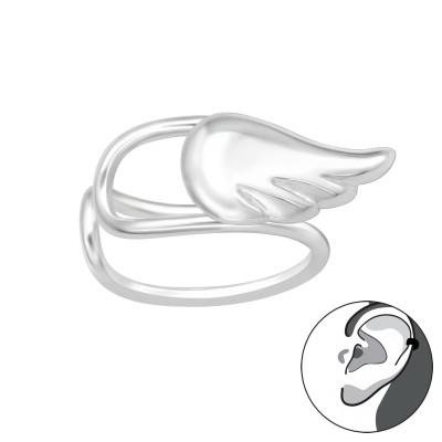 Silver Feather Ear Cuff