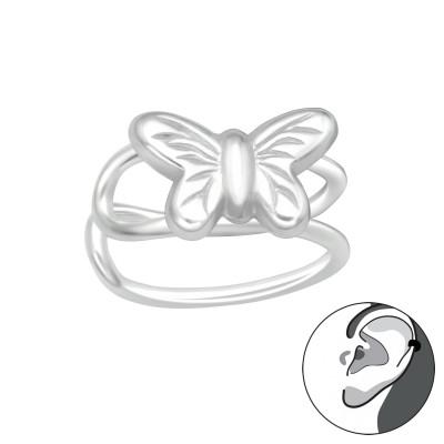 Silver Butterfly Ear Cuff