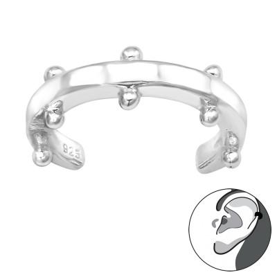 Silver Patterned Ear Cuff