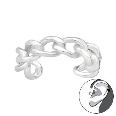 Silver Chain Ear Cuff