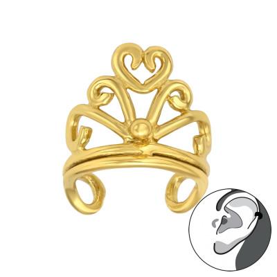 Silver Crown Ear Cuff