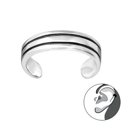 Silver Double Line Ear Cuff