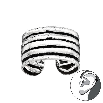 Silver Multi Lines Ear Cuff