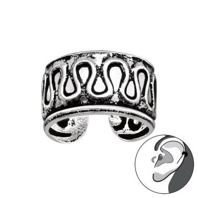 Silver Vintage Curvy Line Ear Cuff