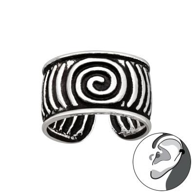 Silver Vintage Spiral Ear Cuff