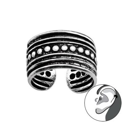Silver Vintage Ear Cuff