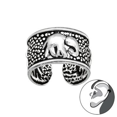 Silver Elephant Ear Cuff
