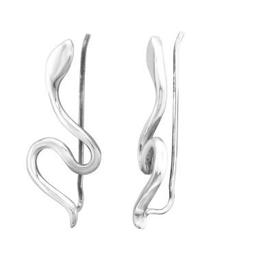 Silver Snake Ear Pin