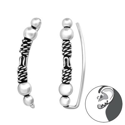 Silver Bali Ear Ear Pin
