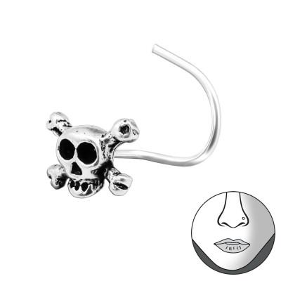 Silver Skull Nose Studs