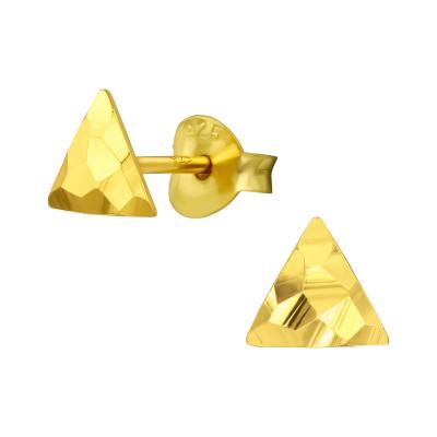 Silver Triangle Ear Studs