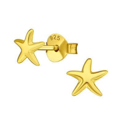 Silver Starfish Ear Studs