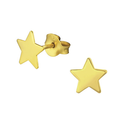 Silver Star Ear Studs
