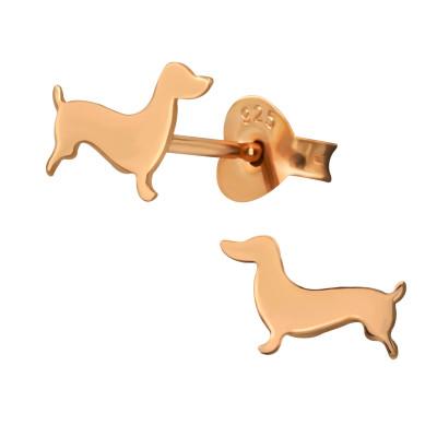Silver Dog Ear Studs