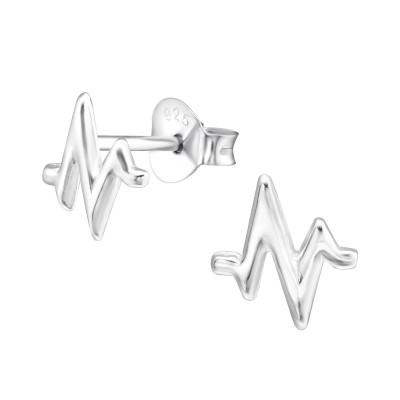 Silver Pulse Ear Studs