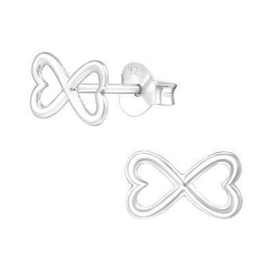 Silver Bow Ear Studs