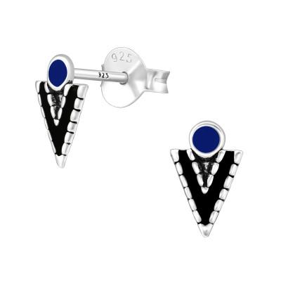 Silver Arrow Ear Studs with Epoxy