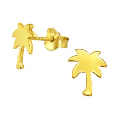 Silver Palm Tree Ear Studs