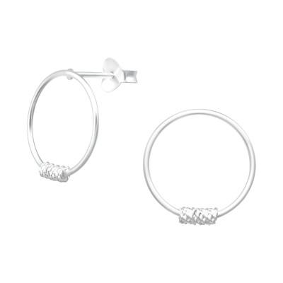 Silver Circle Ear Studs