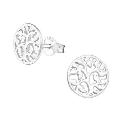 Silver Vine Ear Studs