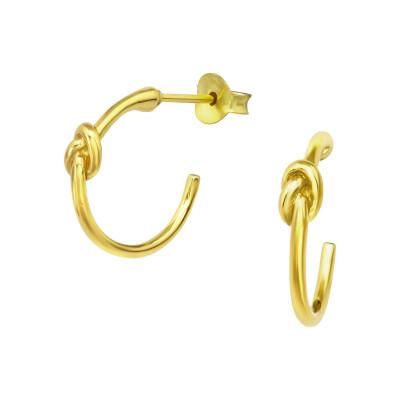 Silver Knot Half Hoop Ear Studs