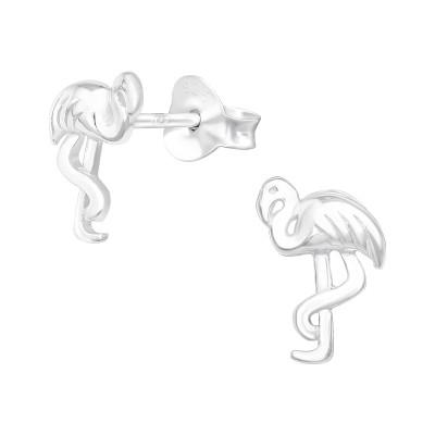 Silver Egret Ear Studs